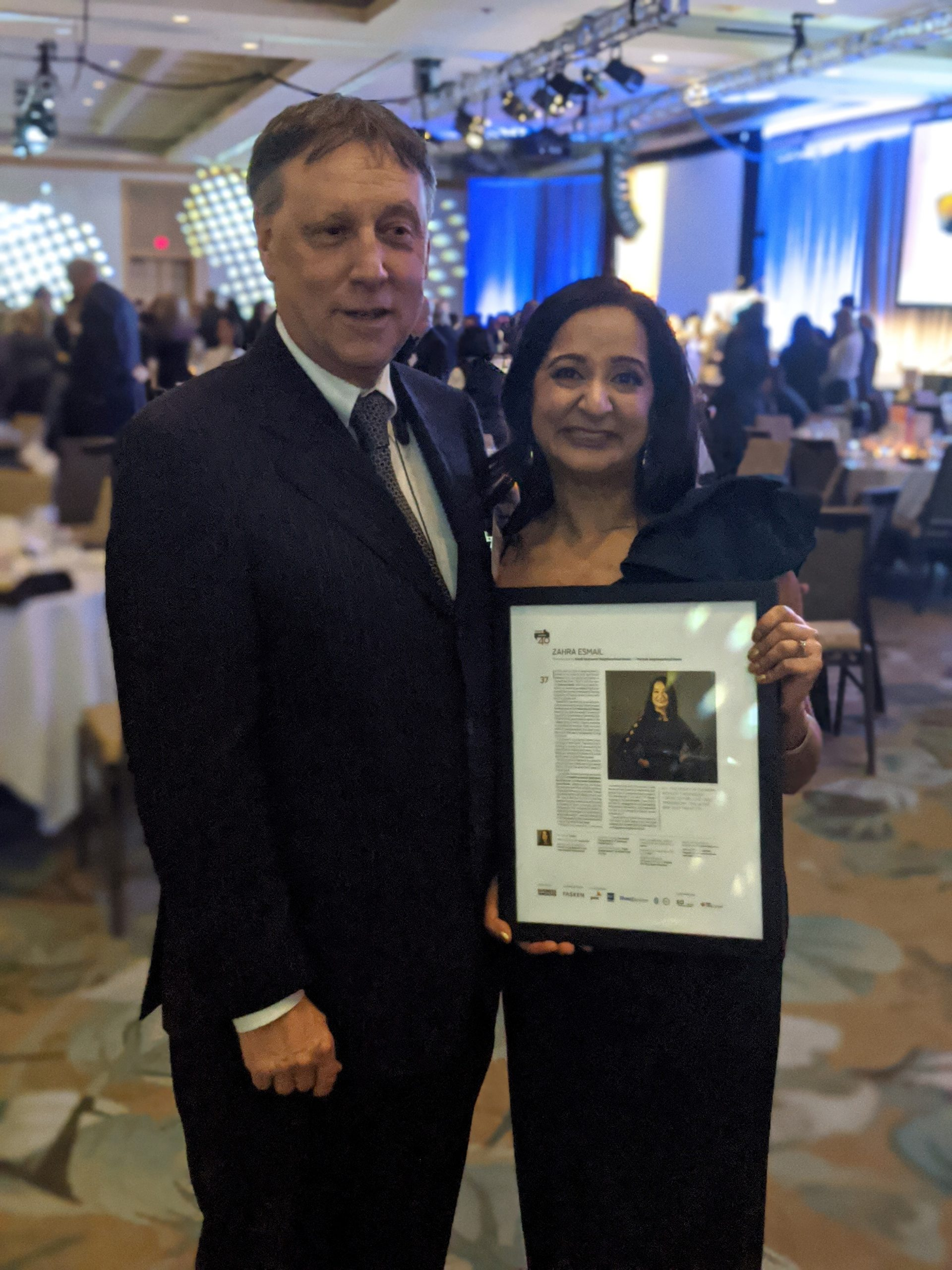 ANHBC's Zahra Esmail wins Forty Under 40 Award